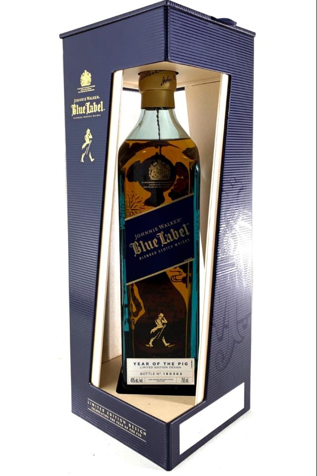 Johnnie Walker Blended Scotch Whisky Blue Label China Limited Edition Design Year Of The Pig NV
