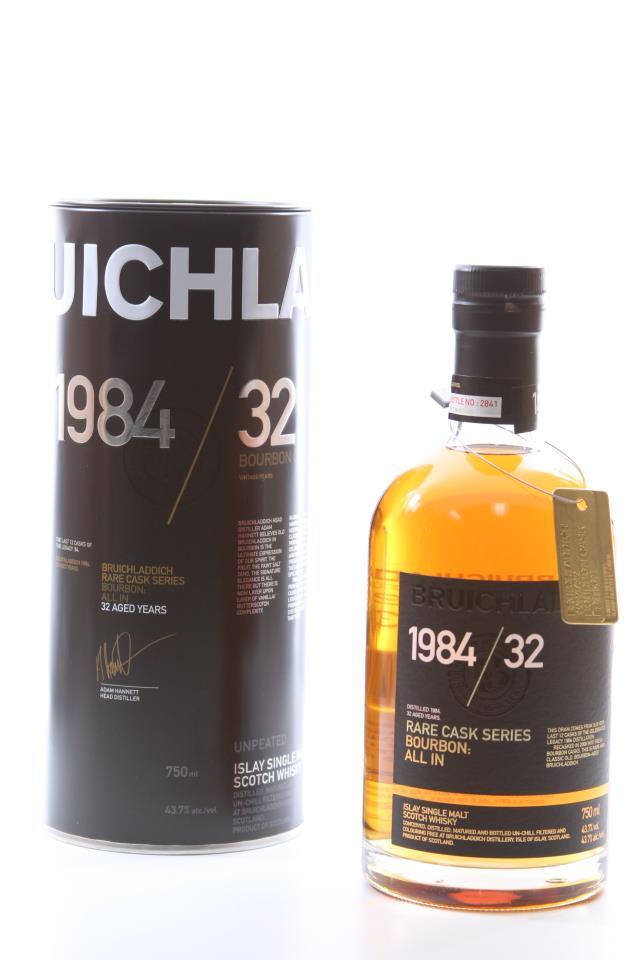 Bruichladdich Distillery Islay Single Malt Scotch Whisky Rare Cask Series 32-Years-Old 1984