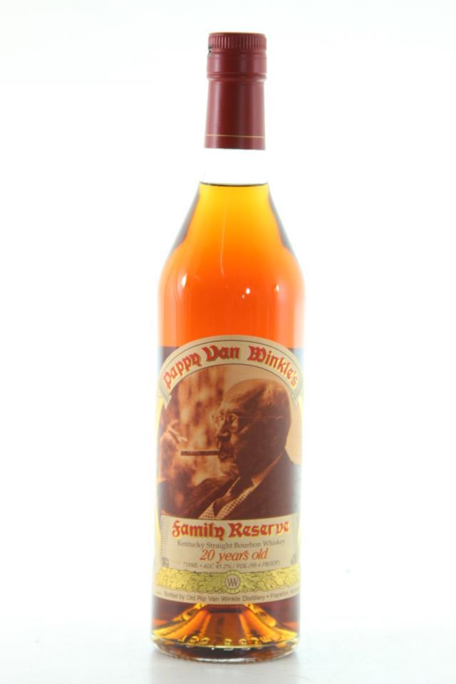 Old Rip Van Winkle Pappy Van Winkle's 20 Year Old Kentucky Straight Bourbon Whiskey NV