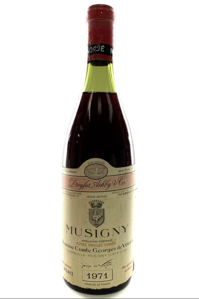 Comte Georges de Vogüé Musigny Cuvée Vieilles Vignes 1971