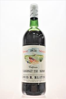 Louis M. Martini Cabernet Sauvignon Special Selection 1978