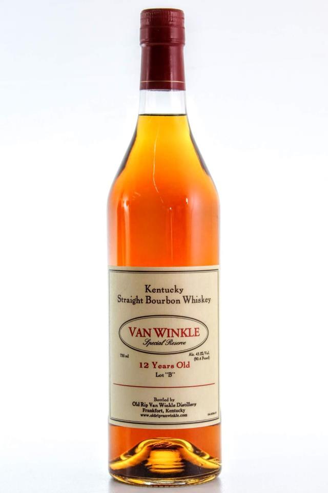 Old Rip Van Winkle Straight Bourbon Whiskey Van Winkle Special Reserve Lot B 12-Years-Old NV