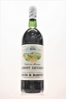 Louis M. Martini Cabernet Sauvignon Special Selection 1974
