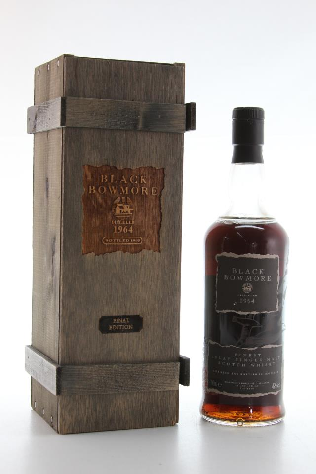 Black Bowmore Islay Single Malt Scotch Whisky Final Edition 1964