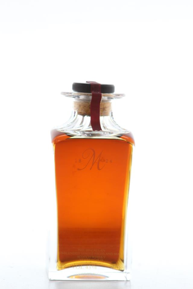 The Macallan Crystal Decanter The 1824 Collection 25 Years Old Unblended Single Highland Malt Scotch Whisky