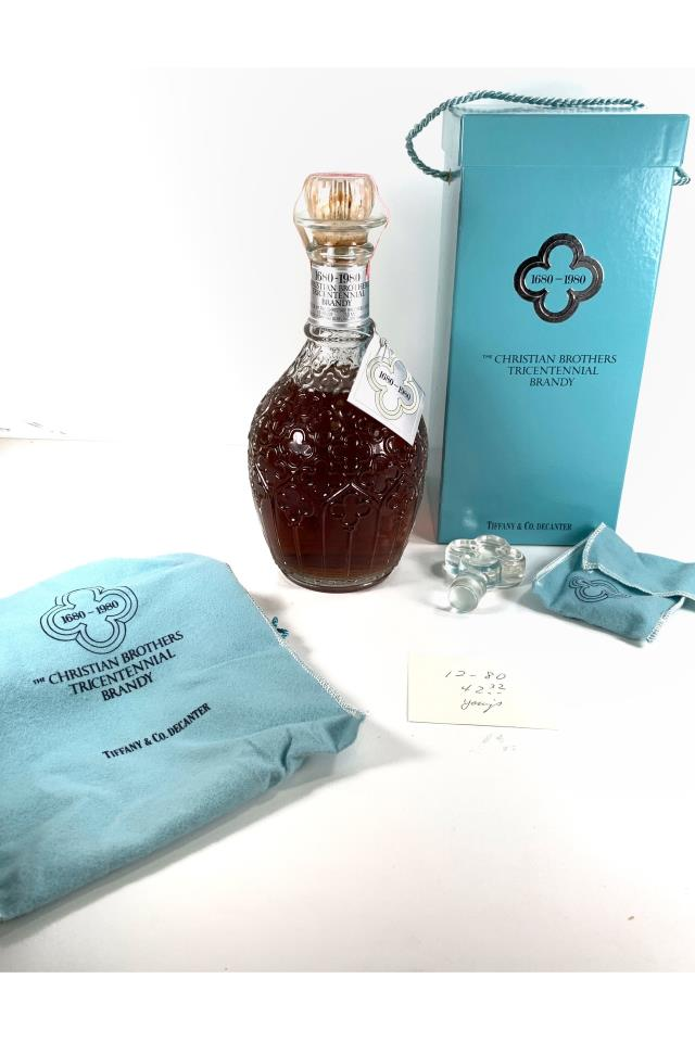The Christian Brothers 1680-1980 Tricentennial Brandy in Tiffany & Co. Decanter With Stopper 1980 Release NV