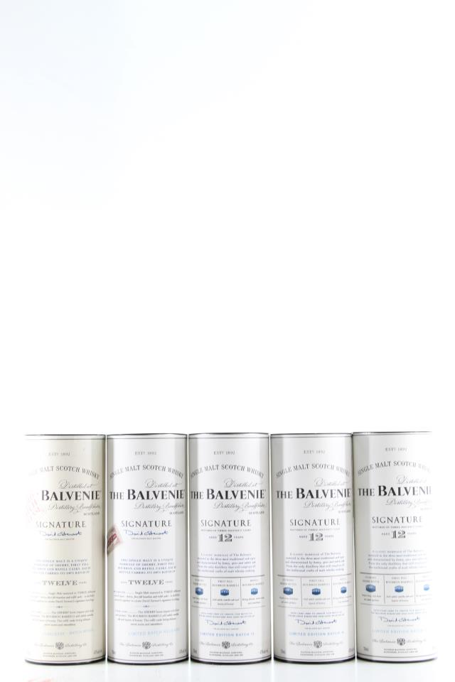 The Balvenie Single Malt Scotch Whisky Matured in Three Distinct Casks Batch #1-5 12-Years-Old Assorted Case NV