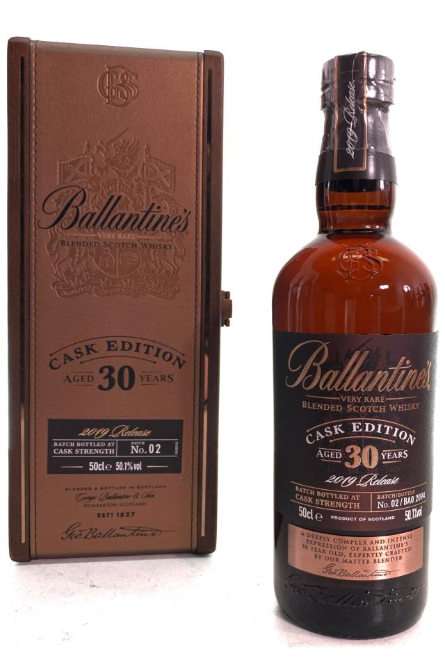 Ballantine's Blended Scotch Whisky Very Rare 30-Year-Old Cask Edition 2019 Release NV
