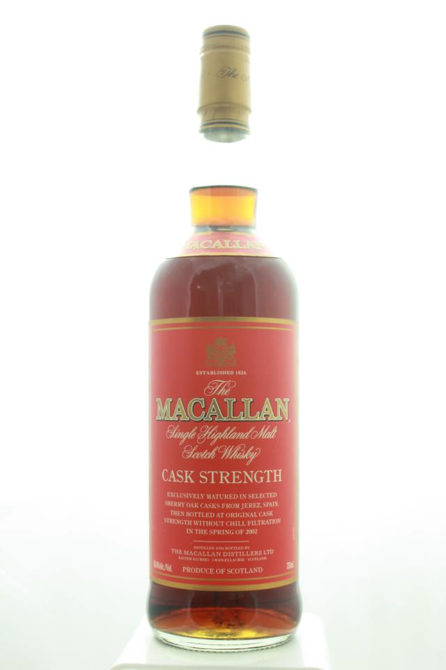 The Macallan Highland Single Malt Scotch Whisky Cask Strength NV