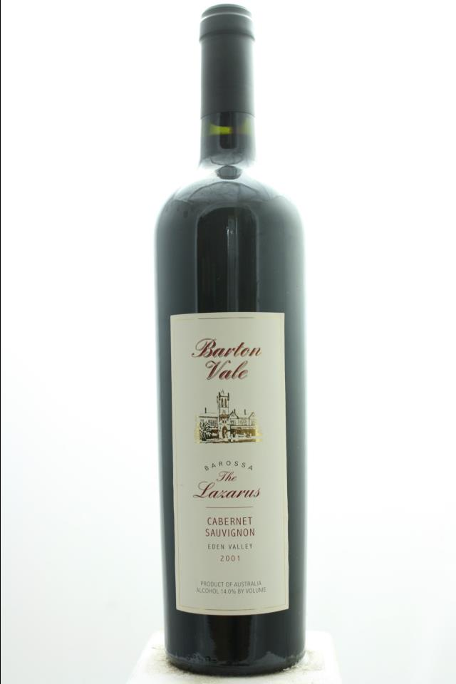 Barton Vale Cabernet Sauvignon The Lazarus Barton Hill Vineyard 2001