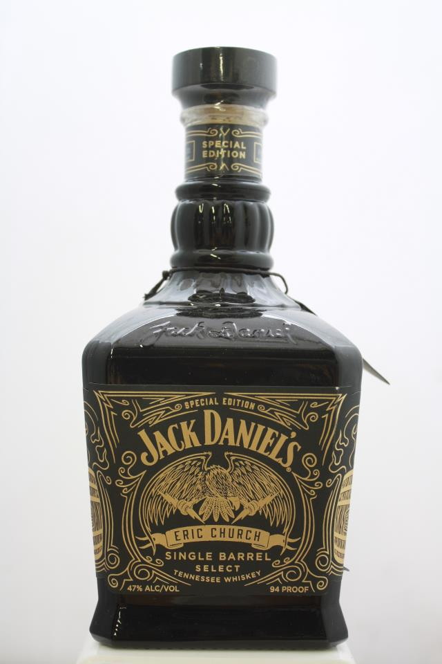 Jack Daniel's Eric Chruch Limited Edition Single Barrel Select Tennessee Whiskey 2020