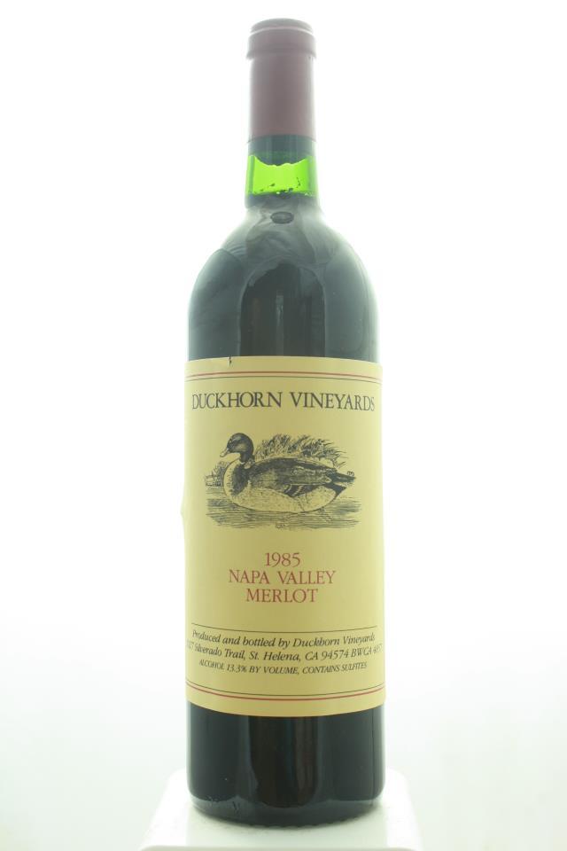 Duckhorn Merlot Napa Valley 1985