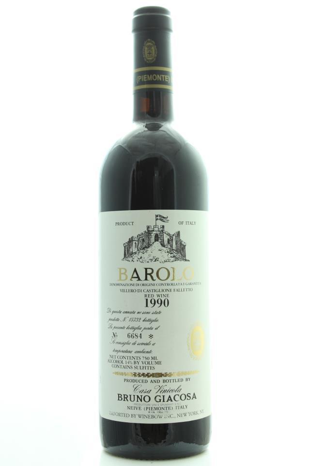 Bruno Giacosa Barolo Villero di Castiglione Falleto 1990