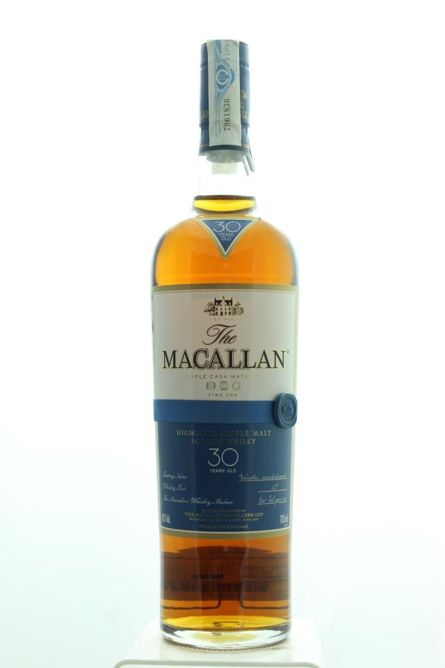 The Macallan Highland Single Malt Scotch Whisky Triple Cask Matured 30-Year-Old NV