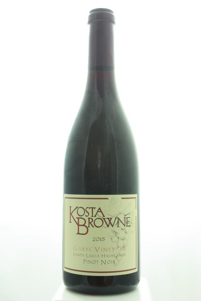 Kosta Browne Pinot Noir Garys' Vineyard 2015