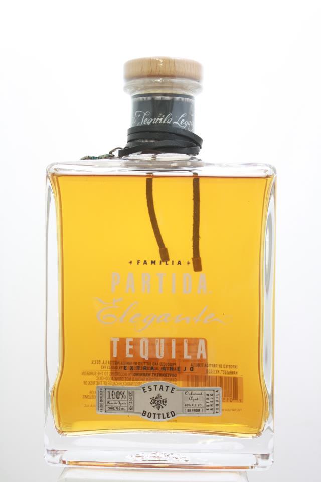 Partida Tequila Extra Anejo Estate Elegante NV