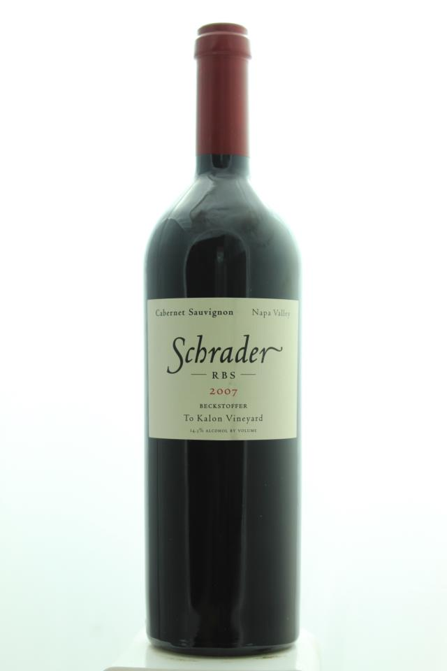 Schrader Cabernet Sauvignon Beckstoffer To Kalon Vineyard RBS 2007