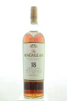 The Macallan Sherry Oak Cask Single Malt Scotch Whisky 18 Year Old 1995