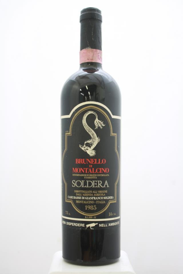 Soldera Brunello di Montalcino Case Basse 1985