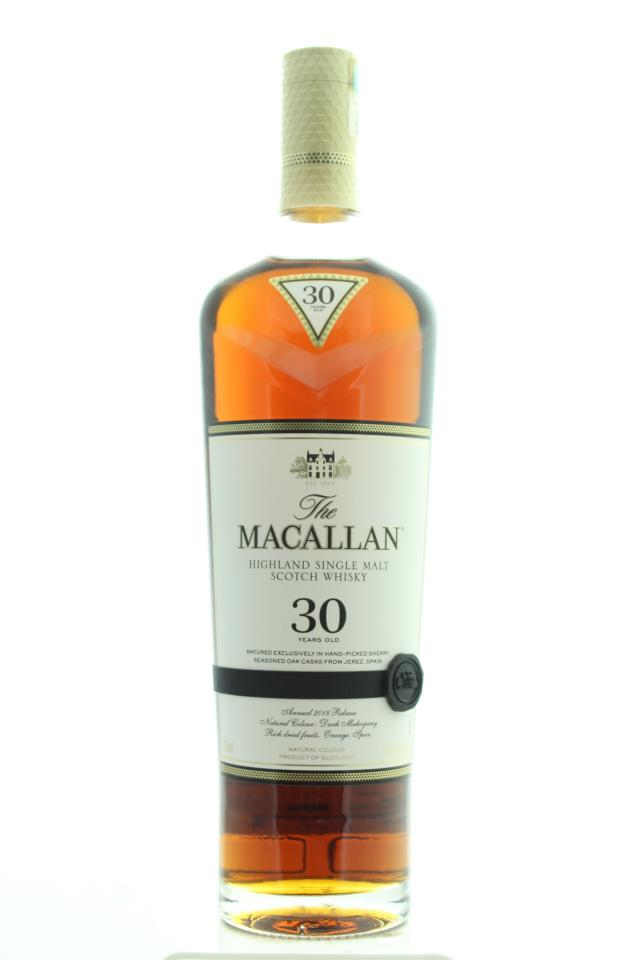 The Macallan Highland Single Malt Scotch Whisky 30-Years-Old (Annual 2018 Release) NV