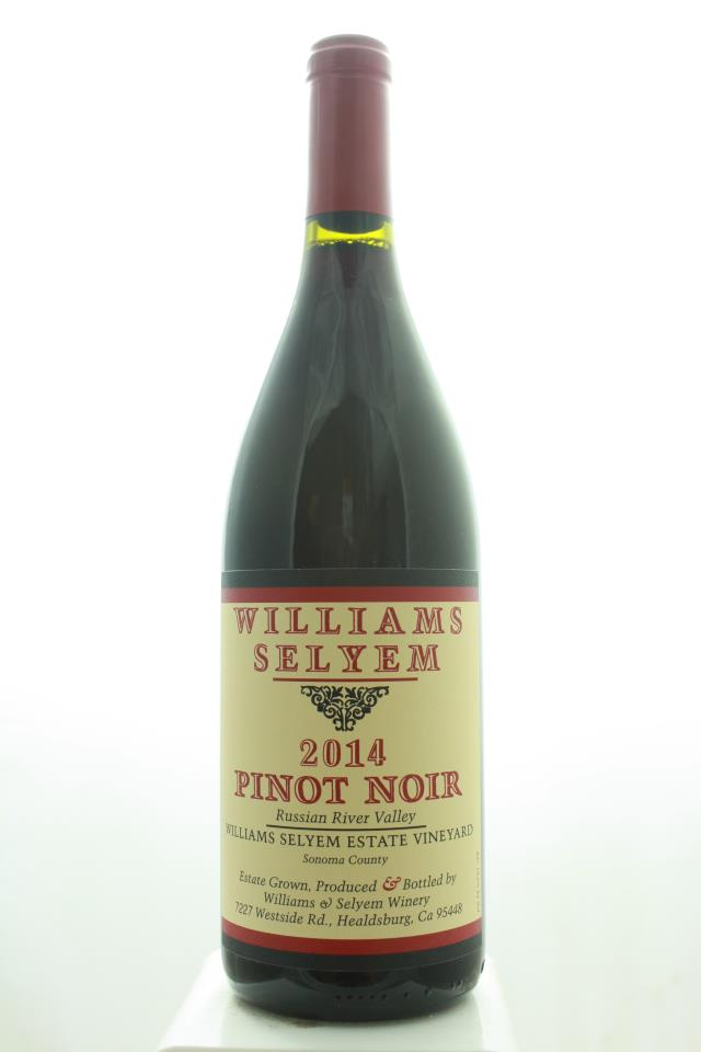 Williams Selyem Pinot Noir Williams Selyem Estate Vineyard 2014
