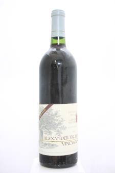 Alexander Valley Vineyards Cabernet Sauvignon Wetzel Family Estate 1985