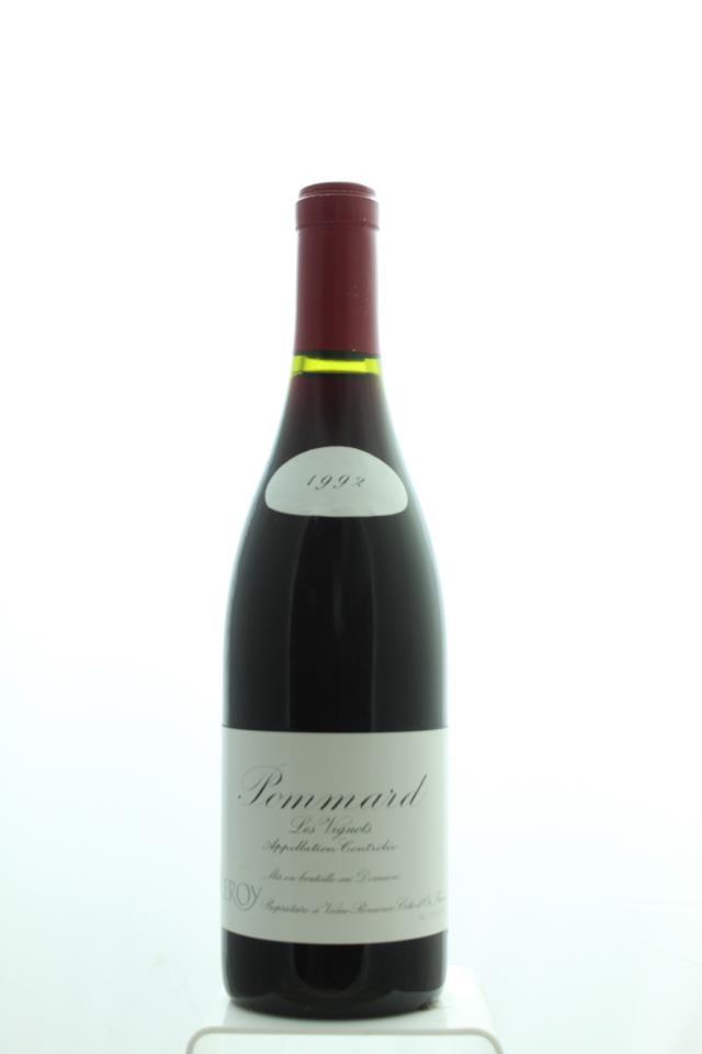 Domaine Leroy Pommard Les Vignots 1992