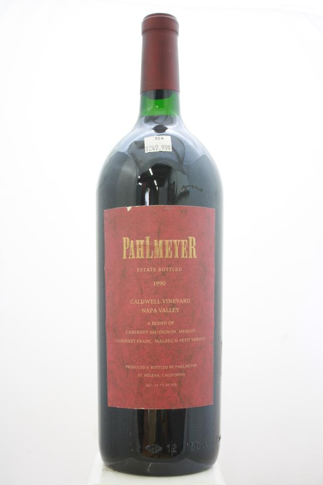 Pahlmeyer Proprietary Red Caldwell Vineyard 1990
