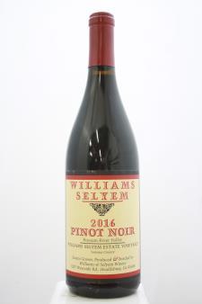 Williams Selyem Pinot Noir Willimas Selyem Estate Vineyard 2016