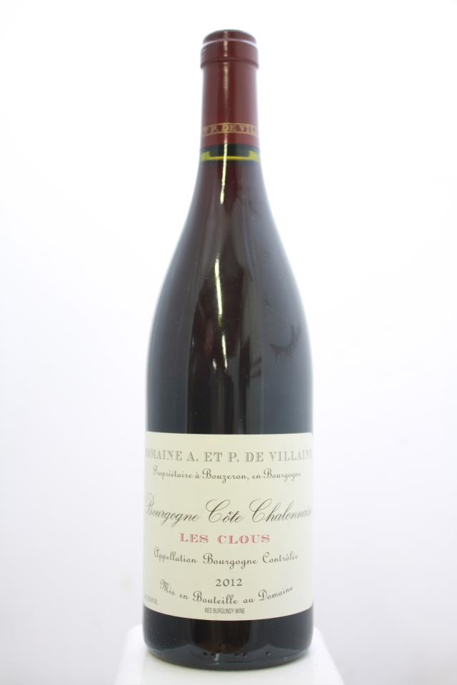Domaine de Villaine Bourgogne Côte Chalonnaise Les Clous Rouge 2012