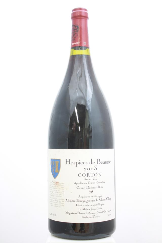 Maison Louis Jadot Corton Hospices de Beaune Cuvée Docteur Peste Silicon Valley 2003