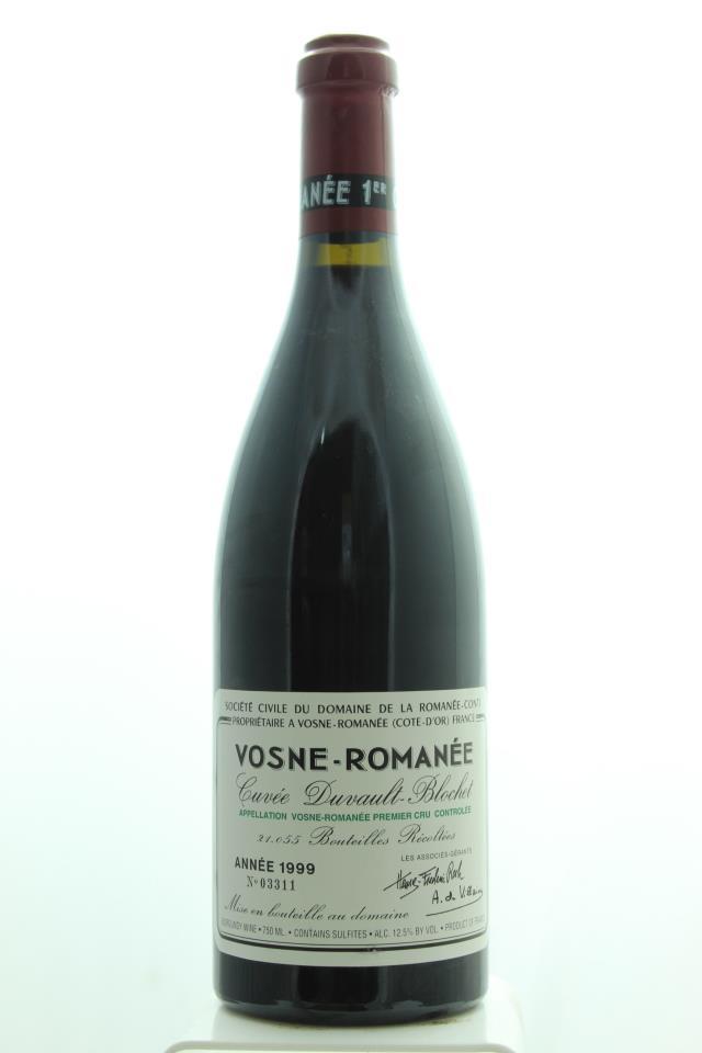 Domaine de la Romanée-Conti Vosne-Romanée 1er Cru Cuvée Duvault-Blochet 1999