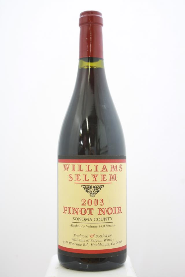 Williams Selyem Pinot Noir Sonoma County 2003