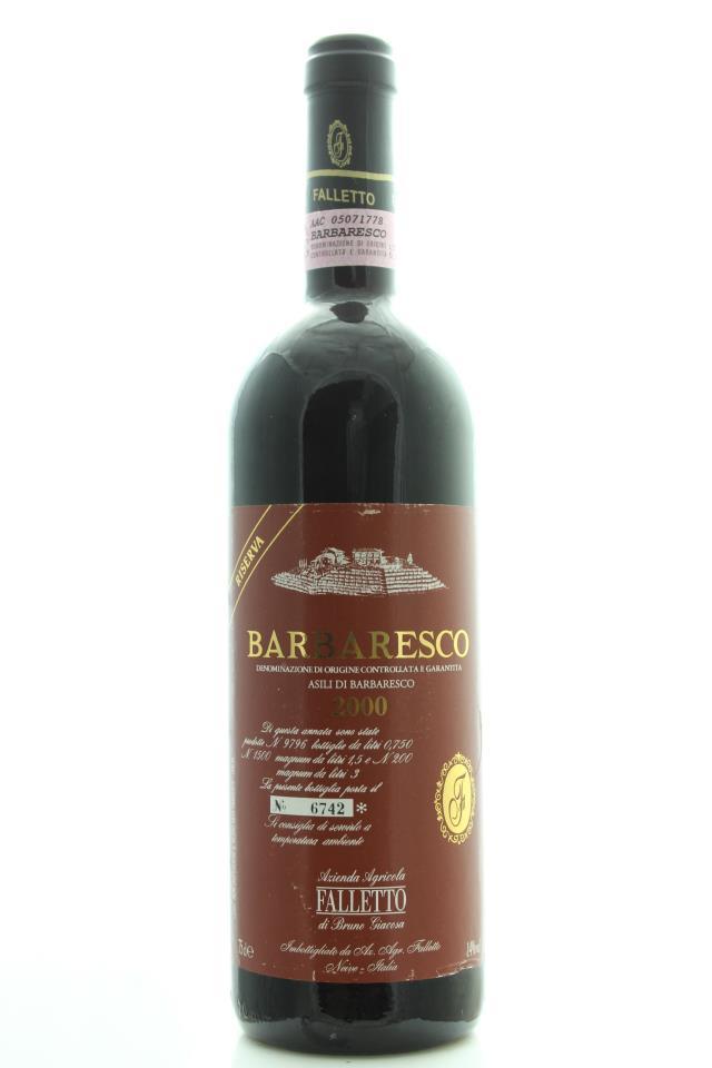 Bruno Giacosa Barbaresco Riserva Asili di Barbaresco 2000