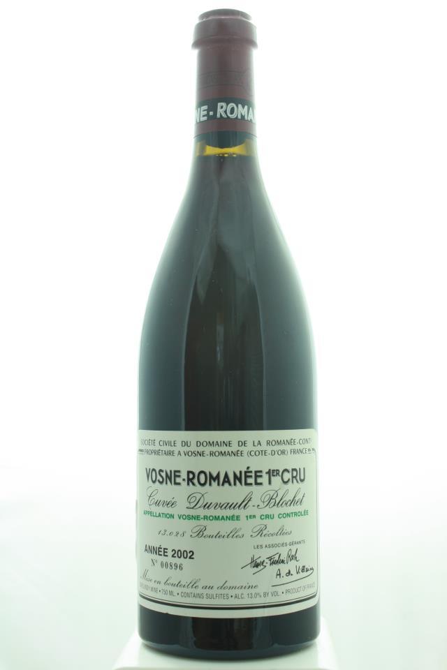 Domaine de la Romanée-Conti Vosne-Romanée 1er Cru Cuvée Duvault-Blochet 2002