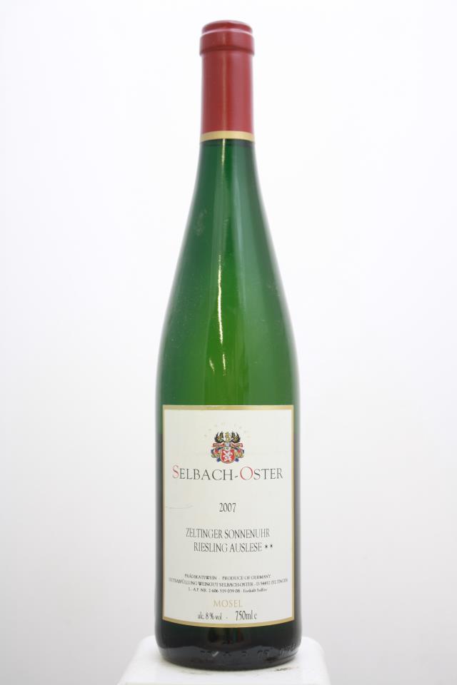Selbach-Oster Zeltinger Sonnenuhr Riesling Auslese** #39 2007