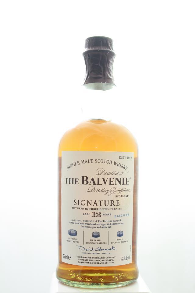 The Balvenie Single Malt Scotch Whisky Signature Matured in Three Distinct Caks Batch #4 12-Years-Old NV