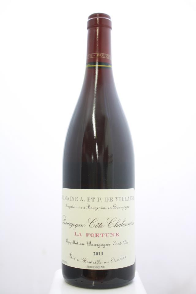 Domaine de Villaine Bourgogne Côte Chalonnaise La Fortune 2013