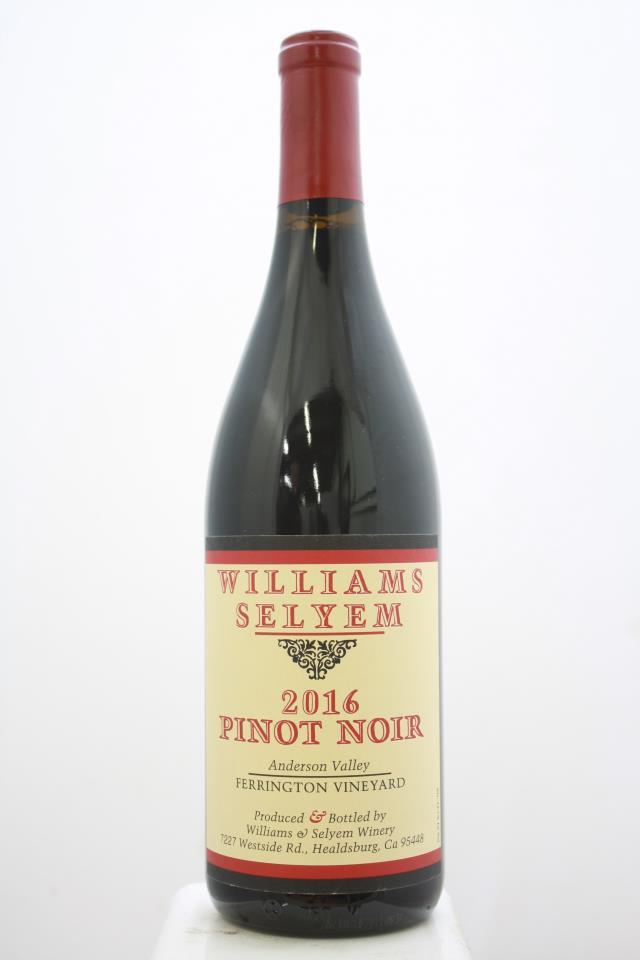 Williams Selyem Pinot Noir Ferrington Vineyard 2016