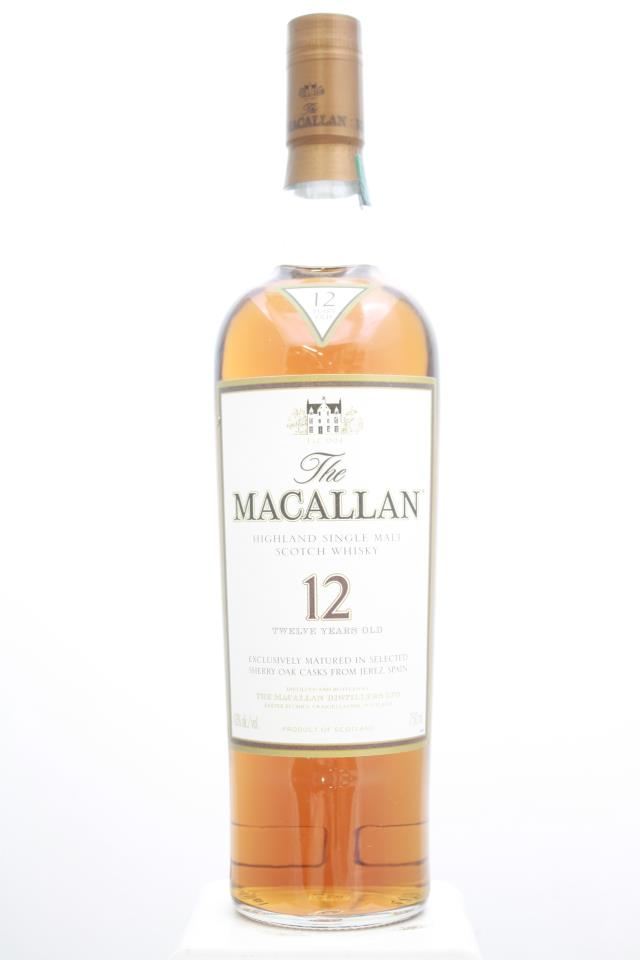 The Macallan Sherry Oak Cask Single Malt Scotch Whisky 12-Year-Old NV