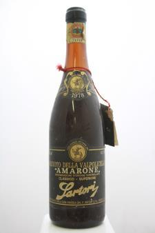 Sartori Della Valpolicella Amarone Classico 1978
