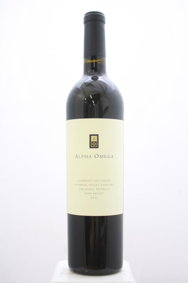 Alpha Omega Cabernet Sauvignon Sunshine Valley Vineyard 2015