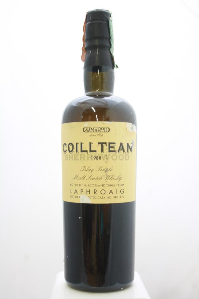 Laphroaig Distillery Shery Wood Samaroli Moon Collection (Coilltean) Single Malt Scotch Whisky 17-Years-Old 1988