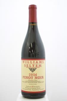 Williams Selyem Pinot Noir Precious Mountain Vineyard 2016