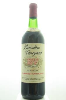 BV Beaulieu Vineyard Cabernet Sauvignon Napa Valley 1973