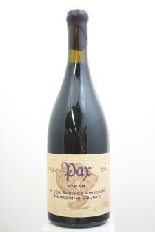 Pax Syrah Alder Springs Vineyard 2004