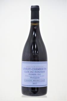 Bruno Clair Gevrey-Chambertin Clos du Fonteny 2017