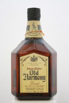 Johnnie Walker Finest Scotch Whisky Old Harmony NV