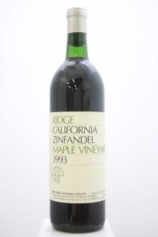 Ridge Vineyards Zinfandel Maple Vineyard ATP 1993