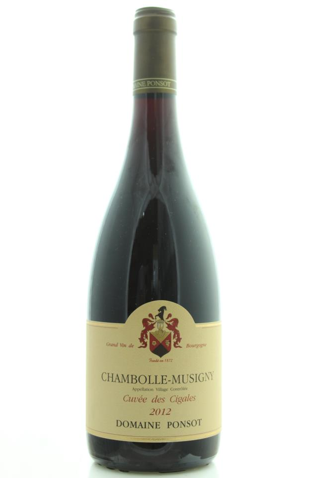 Domaine Ponsot Chambolle-Musigny Cuvée des Cigales 2012